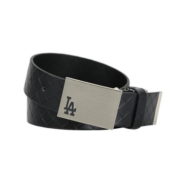 [MLB] LA Dodgers Pattern Leather Golf Belt (Black)