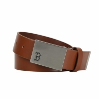 [MLB] Boston Red Sox Solid Leather Golf Belt (Tan)