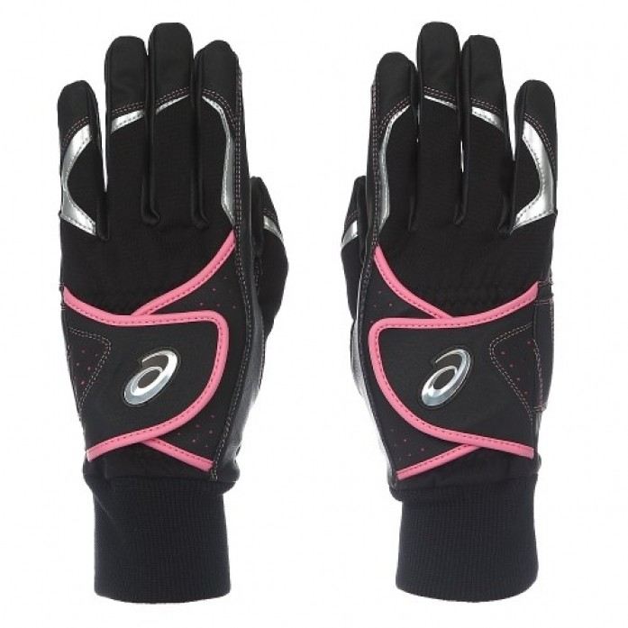 [ASICS] 3121A009 BATTING GLOVE(003) 배팅장갑(BLACK/PINK)