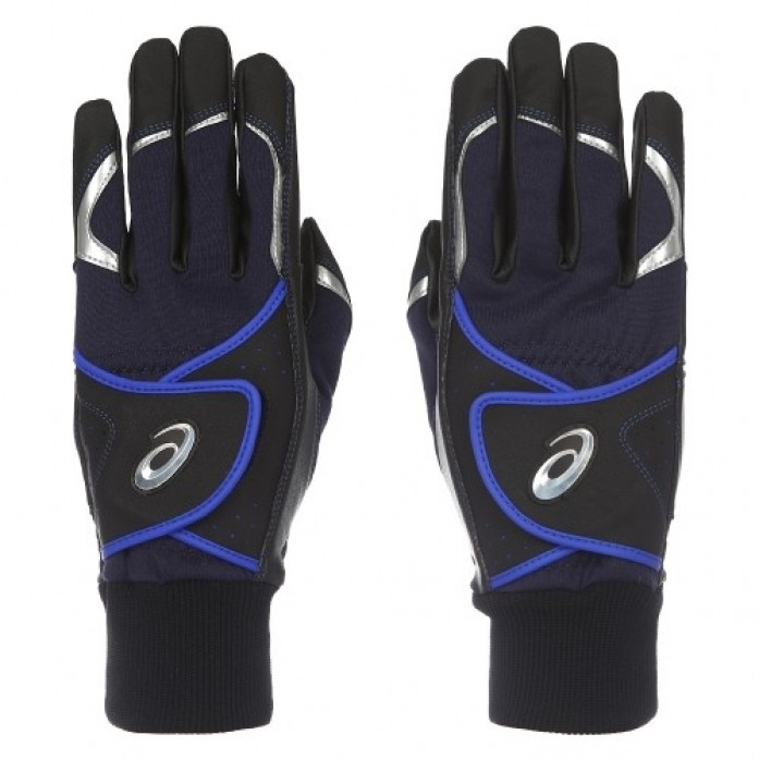 [ASICS] 3121A009 BATTING GLOVE(002) 배팅장갑(BLACK/ROYAL)